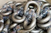 pic of shackles  - Group of sail shackles use for sailing to lock something - JPG