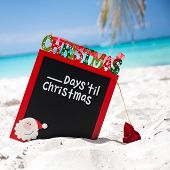 Waiting For Christmas Holiday On Tropical Vacation