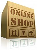 online web shop package delivery internet order shopping