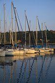 Sail Boat On Lake Garda