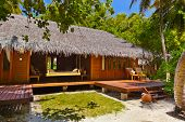 Beach bungalow - Maldives vacation background