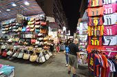 Tourist Shops For Bargain Priced Fashion And Casual Wear In Mong Kong Market