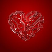 heart shaped electronics backgrounds