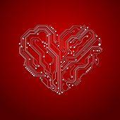 heart shaped electronics backgrounds