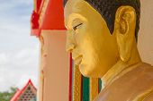 beside face of image buddha