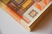 stack of euro bills