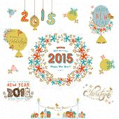 Beautiful collection of X-mas ornaments for Merry Christmas and Happy New Year 2015 celebrations.