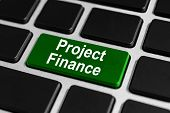 Постер, плакат: Project Finance Button On Keyboard