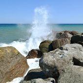Splashing Sea Water..