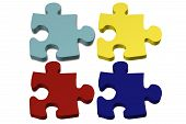 pic of autism  - Blank Colored Autism Puzzle pieces with copy - JPG
