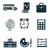 School isolated icons