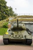 Military tank in the Memorial Complex «Brest Hero-Fortress»