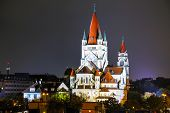 St. Francis Of Assisi Church In Vienna, Austria