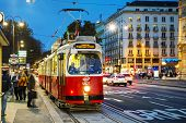 Old Fashioned Tram In Vienna, Austria