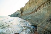image of sidari  - Beautiful view of the beach early in the morning - JPG