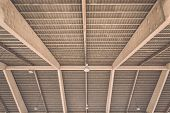 foto of roof-light  - Roof structure in public market in Phuket Thailand - JPG