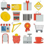 pic of barcode  - Sixteen flat Icons of retail - JPG