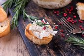 stock photo of french toast  - Traditional french dish rillette sort of pate - JPG