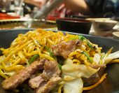 picture of lo mein  - Yakisoba Place on a plate ready to eat - JPG