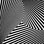 picture of distort  - Design monochrome triangle movement illusion background - JPG