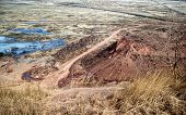foto of worm  - all that remains of the former coal mines Chelyabinsk coal basin - JPG