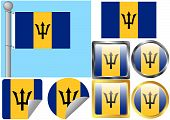 Flag Set Barbados