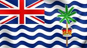 stock photo of indian flag  - 3D Flag of British Indian Ocean Territory - JPG