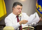 Постер, плакат: President Of Ukraine Petro Poroshenko