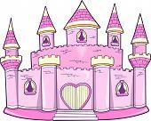 Постер, плакат: Смазливая Розовый Принцессы Королева Королевский замок векторные иллюстрации