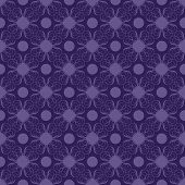 Purple And Blue Swirly Damask Seamless Pattern