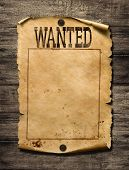 Wanted for reward poster 3d illustration poster