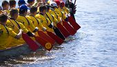 Kiev - April 23: Sportsmen Fight For Victory And Had Fun At Dragon Boat Racing Festival April 23, 20