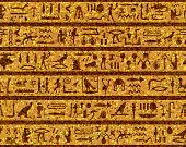 Egyptian seamless hieroglyphs pattern