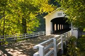 Goodpasture Covered Bridge In Fall