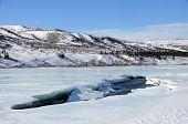 Alaska River Ice Breaks Up in Spring