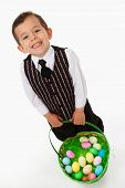 Boy Carrying Easter Basket