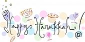 Text Featuring the Words Happy Hanukkah