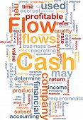 Background concept wordcloud illustration of flow cash