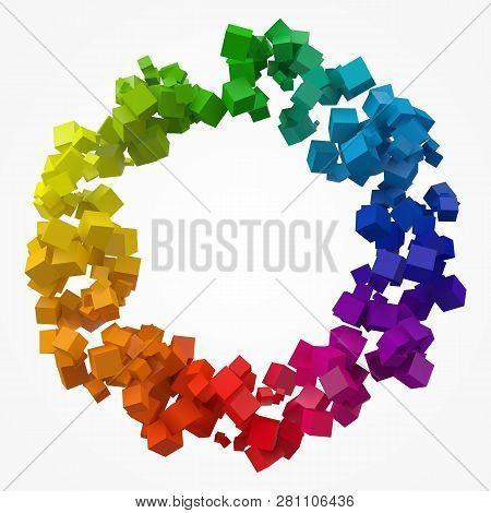 Colorful Cubes 3d Pixel Style