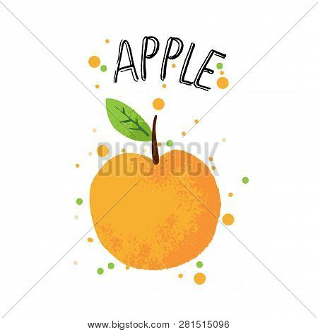 Vector Hand Draw Apple Illustration