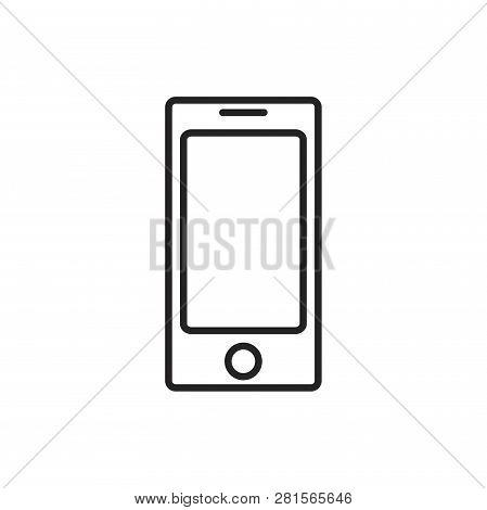 Smartphone Vector Icon On White