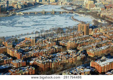 Boston Longfellow Bridge Across Charles