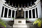 stock photo of guayaquil  - rotonda statues malecon 2000 guayaquil ecuador famous tourist destination night scene - JPG