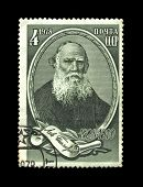 Ussr - Circa 1978: Cancelled Stamp Printed In The Ussr, Shows Famous Russian Writer Leo Tolstoy, Cir