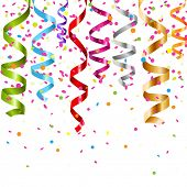 stock photo of confetti  - Multicolor Curling Stream - JPG
