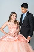 Teen hispanic girl going to her quinceanera or prom poster