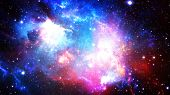 3d Rendering Of A Stellar Nebula And Cosmic Dust, Cosmic Gas Clusters And Constellations In Deep Spa poster