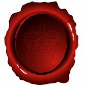 Oval Wax Stamp