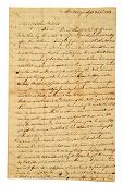 Very Old Handwritten Letter.