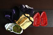 Great Hand-knitted Patterned And Multi-colored Booties Socks,anatolian Handicrafts, Turkey,hand Knit poster